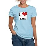 I Love Kyle Women's Pink T-Shirt