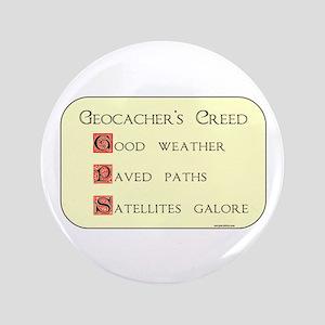"Geocacher's Creed 3.5"" Button"