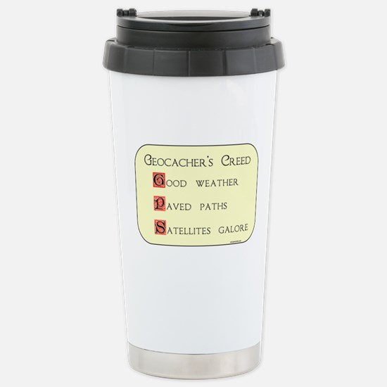 Geocacher's Creed Stainless Steel Travel Mug