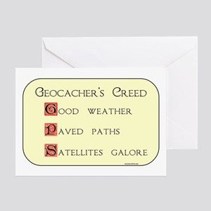 Geocacher's Creed Greeting Card