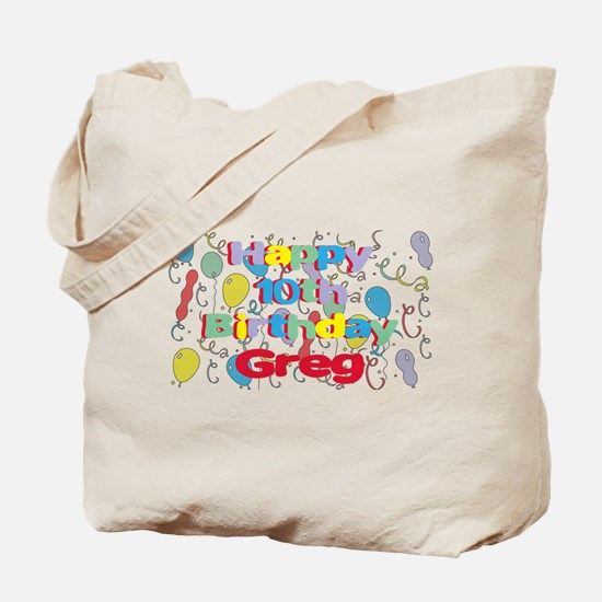 Greg's 10th Birthday Tote Bag