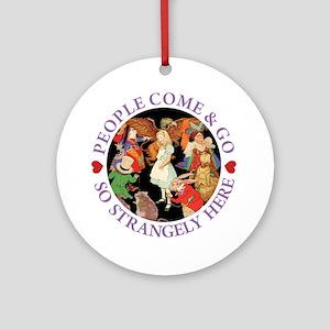 PEOPLE COME & GO - PURPLE Ornament (Round)