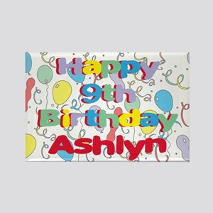 Ashlyn's 9th Birthday Rectangle Magnet
