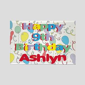 Ashlyn's 9th Birthday Rectangle Magnet