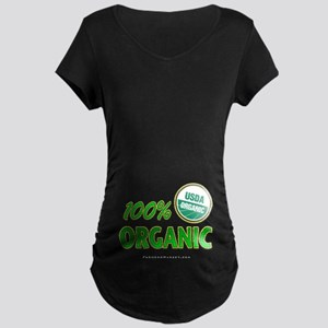 100% ORGANIC Maternity Dark T-Shirt