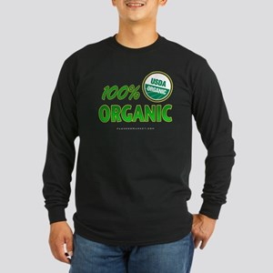 100% ORGANIC Long Sleeve Dark T-Shirt