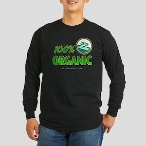 100% ORGANIC Long Sleeve Dark T-Shirt