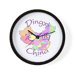 Dingxi China Map Wall Clock