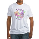 Dingxi China Map Fitted T-Shirt