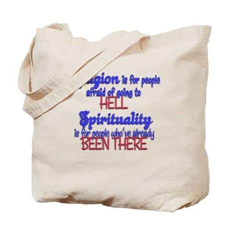 Religion VS spirituality Tote Bag