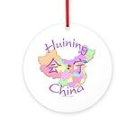 Huining China Map Ornament (Round)