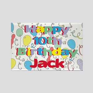 Jack's 10th Birthday Rectangle Magnet