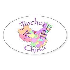 Jinchang China Map Oval Decal