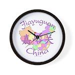 Jiayuguan China Map Wall Clock