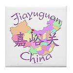 Jiayuguan China Map Tile Coaster