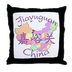 Jiayuguan China Map Throw Pillow