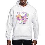 Jiayuguan China Map Hooded Sweatshirt
