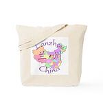 Lanzhou China Map Tote Bag