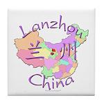 Lanzhou China Map Tile Coaster