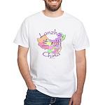 Lanzhou China Map White T-Shirt