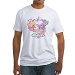 Pingliang China Map Fitted T-Shirt