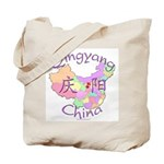 Qingyang China Map Tote Bag