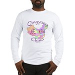 Qingyang China Map Long Sleeve T-Shirt