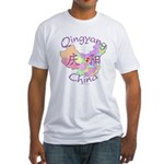 Qingyang China Map Fitted T-Shirt