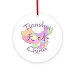 Tianshui China Map Ornament (Round)