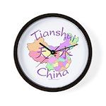 Tianshui China Map Wall Clock