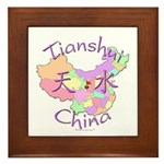 Tianshui China Map Framed Tile