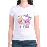 Tianshui China Map Jr. Ringer T-Shirt