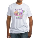 Tianshui China Map Fitted T-Shirt