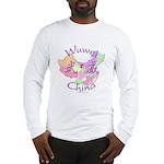 Wuwei China Map Long Sleeve T-Shirt