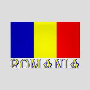 Word Romania & Flag Magnets