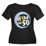 50th Birthday Women's Plus Size Scoop Neck Dark T-