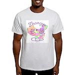Zhangye China Map Light T-Shirt