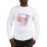 Zhangye China Map Long Sleeve T-Shirt