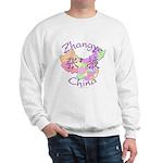 Zhangye China Map Sweatshirt