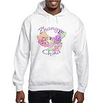 Zhangye China Map Hooded Sweatshirt