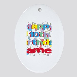 James's 10th Birthday Oval Ornament