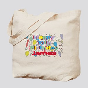 James's 10th Birthday Tote Bag