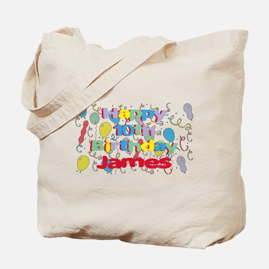 James's 10th Birthday Tote Bag