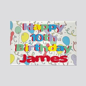 James's 10th Birthday Rectangle Magnet