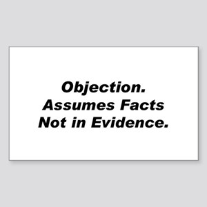 Objection/Facts Rectangle Sticker