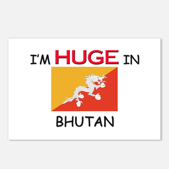 I'd HUGE In BHUTAN Postcards (Package of 8)