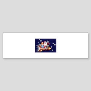 rocket santa Bumper Sticker