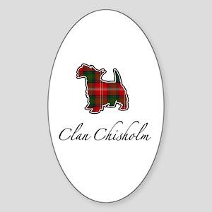 Chisholm - Scotty Dog - Oval Sticker