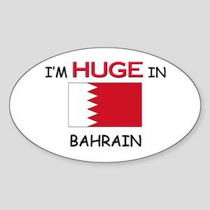 I'd HUGE In BAHRAIN Oval Sticker