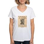 b Saunders Wante Women's V-Neck T-Shirt